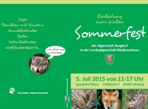 05.07.2015 - Sommerfest der Jägerschaft Burgdorf e.V.